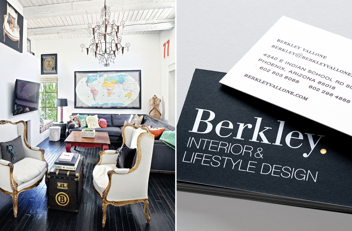 Berkley Vallone Business Card Design