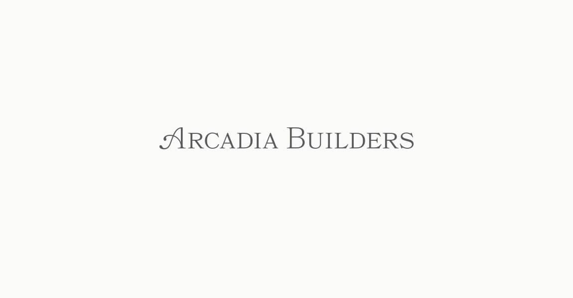 Arcadia Builders Logo Design